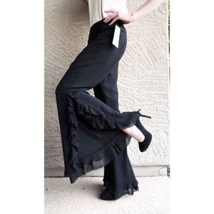VTG ✨NWT✨ Ruffle Wide Leg Dress Flamenco Pants